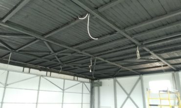 Монтаж пожарной сигнализации на аэродроме Коприно